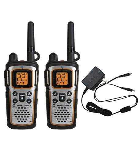 Motorola MU350R 35-Mile Range 22-Channel FRS/GMRS Two Way Bluetooth Radio Weatherproof (Grey) …