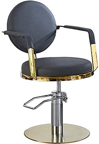 JZYQWE Silla de estilo clásico, asiento cómodo, peluquero estilista silla estilo 360 grados balanceo sillas de peluquero giratorio