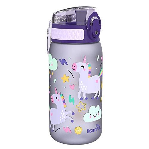Ion8 Gourde Enfant Étanche, sans BPA, Licornes