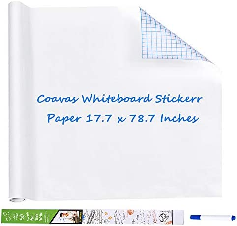 Coavas Whiteboard Sticker Paper Self Adhesive Dry Erase Board Peel and Stick Wall Stick Paper product image