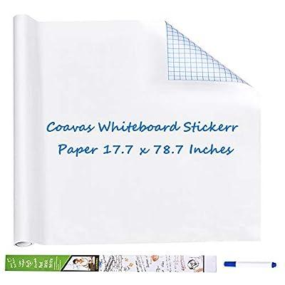 Coavas Whiteboard Sticker Paper Self-Adhesive D...