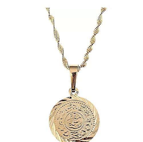 Islam musulmán monedas antiguas collares pendientes Color oro árabe signo de dinero cadena fabricante joyería religiosa regalo