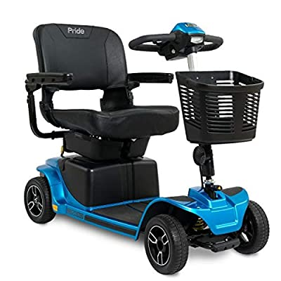 Pride Mobility Revo 2.0 Rugged Mobility Scooter – Heavy-Duty 4-Wheel Scooter – Portable Electric Scooter for Adults (Blue)