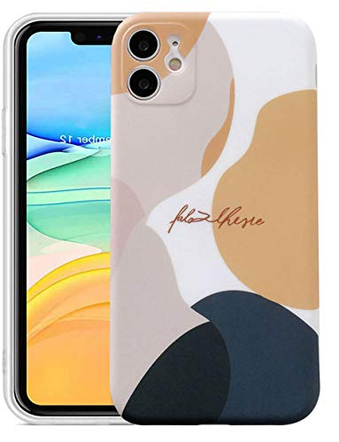 Abbery for iPhone 11 Case, Graffiti Art Watercolor Pattern IMD Soft TPU Cover Full-Body Protective Cases for iPhone 11 (6.1')