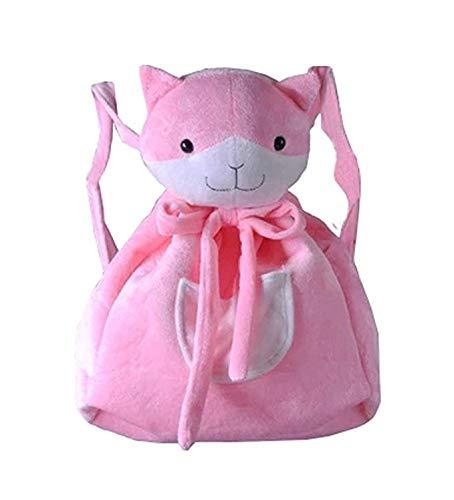 Mochila de Felpa con diseño de Gato, para niños, Adultos, para Cosplay, para Preescolar, Animales, Bolsas de Hombro, Color Rosa