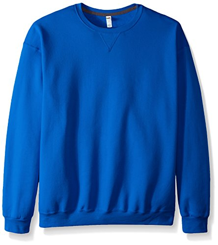 Fruit of the Loom Men's Fleece Crew Sweatshirt, Royal, Medium