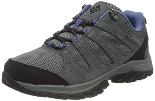 Columbia Redmond III, Zapatillas para Caminar Mujer, Ti-Cala de Terciopelo de Acero Gris, 37.5 EU