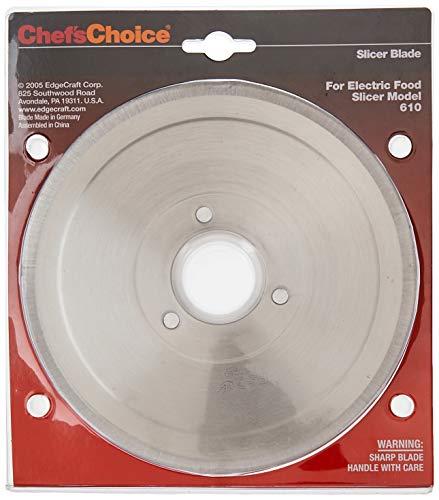 Chef'sChoice S610012 Multi-Purpose Non-Serrated Blade for Models 607, 607E, 609, 609E, 610, 6102, 615, 615A Food Slicer, 7-inch, Silver