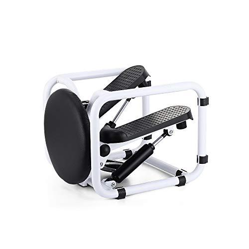 Stepper Voor Huishoudelijke Met 360 ° Draaibaar Zitkussen, Aërobe Oefening Rollator LCD Display, Voor Heupen, Taille, Benen, Armen Fitness / 100Kg Draagvermogen,White