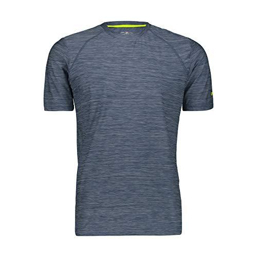 CMP – F.LLI Campagnolo Herren Elastisches Melange T-Shirt mit Sonnenschutz UPF 40, Plutone Mel, 50