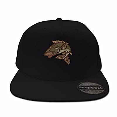 Snapback Hats for Men Flat Peak Caps Carp Fishing Animal Face Baseball Cap Embroidered Summer Mens Hats from BANG TIDY CLOTHING