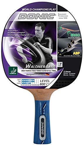 Donic-Schildkröt Tischtennis Schläger Waldner 800 mit ABP Technologie und Ergo Griff Tischtennisschläger, schwarz/Rot/Braun, One Size