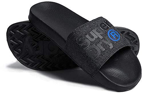 Superdry Lineman Pool Slide, Zapatos de Playa y Piscina para Hombre