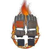 ZUOQUAN Elektrische Beheizbare Handschuhe, Wiederaufladbare Lithium-Ionen-Batterie Beheizt, Ultraleichtes Heizblatt, Tragbarer Und Leichter, Warm Und Ohne Angst Vor Der Kälte