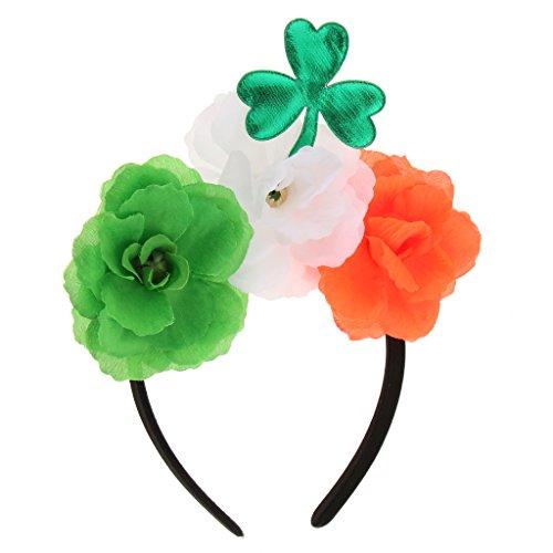 Fenteer Grün Kleeblatt Blatt Blumen Stirnband St. Patrick Day Party Parade Dress Up