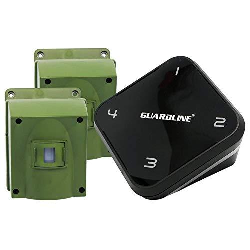 1/4 Mile Long Range Wireless Driveway Alarm w/Two Sensors Kit Outdoor Weather Resistant Motion Sensor/Detector- Best DIY Security Alert System- Protect Home, Perimeter, Yard, Garage, Pool
