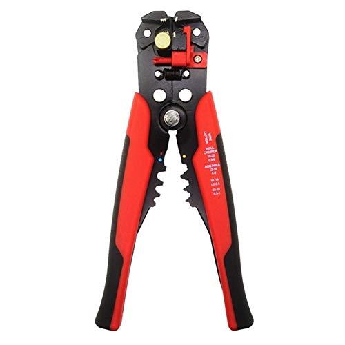 Pelacables Cortador de alambre de engaste pelacables automático multi-funcionales herramientas de pelado alicates Terminal 0.2-6.0mm2 herramientas (Color : D1 Red)