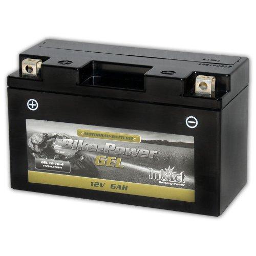 Intact Motorrad Batterie Gel 12 V 6 AH(GT7B-4 / 50798) Alternative zu ROTAX RX7-12B - Alternativ: 50601 - WP7B-4 - YT7B-BS - 50790 - GT7B-4 -507901012 - YT7B-4 - YT7B-BS - 0092M60080 - M6008 - 00972507P1 -50798 - 50615 - 50601 - 50701 - 50719 - 50798 - YT7-4B - CT7B-4 - FT7-12B