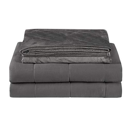 Laneetal Gewichtsdecke Schwerkraftdecke abnehmbare Therapiedecke aus 100% Baumwolle mit Glasperlen, Schwere Decke Weighted Blanket für Erwachsene, Schlafstörungen wirksam verbessern, 150x200 cm 9kg