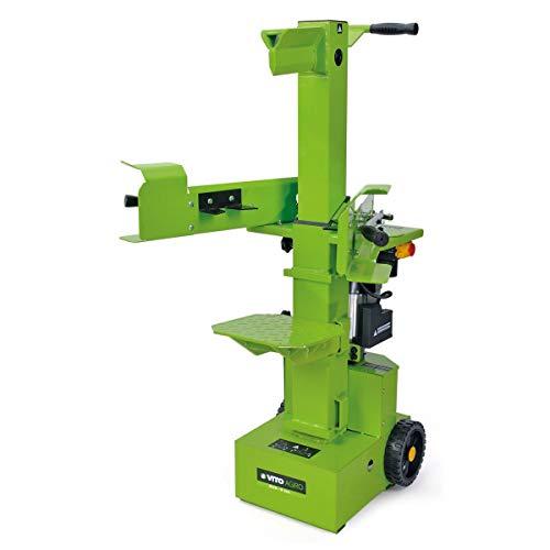 Vertikaler Holzspalter Vito 3500 W Druck 9 Tonnen – Länge Brennholz 105 cm – Breite 35 cm – 3 Höheneinstellungen