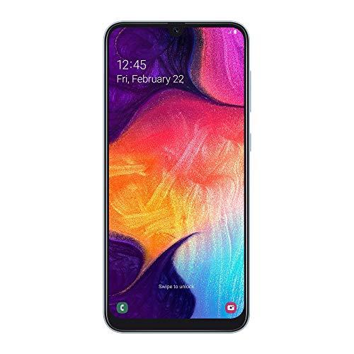 Samsung Galaxy A50 2019 Smartphone, Display 6.4  128 GB Espandibili, Dual Sim, Bianco [Versione Italiana] (Ricondizionato)