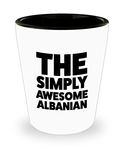 Albanian Shot Glass - Funny Albanian Gifts for Pride Moms Dads People Who Love From Albania - Awesome Albanian Birthday Gifts Mothers Day Fathers Day