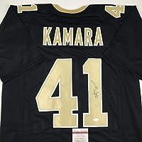 Autographed/Signed Alvin Kamara New Orleans Black Football Jersey JSA COA