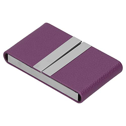 Estuche para tarjetas de visita, ultrafino y de gran capacidad Diseño doble abierto Excelente calidad y durabilidad Tarjetero para(purple, 400#)