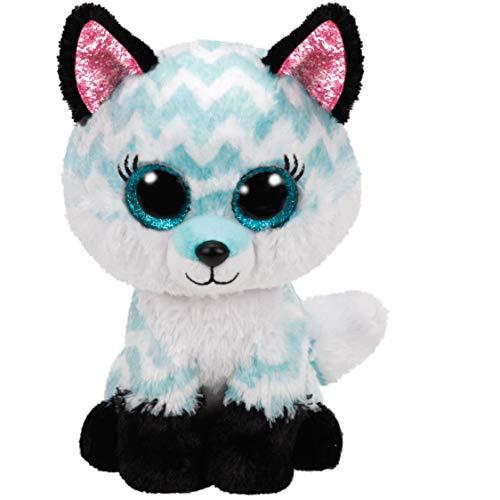 TY 2007520 Atlas Fox Beanie Boo Stuffed Animal, Multicoloured