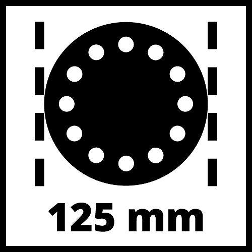 Einhell Ponceuse excentrique TC-RS 38 E (380 W, Diamètre du disque abrasif : 125 mm, Système auto-agrippant, Livré avec une feuille abrasive)