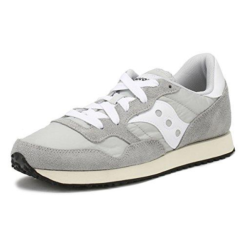 Saucony DXN Trainer Vintage, Zapatillas de Cross para Hombre, Gris (Grey/White 4), 42.5 EU
