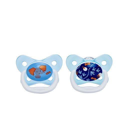 Dr Brown 's prevent chupete (6 A 12 meses, color azul, pack de 2)