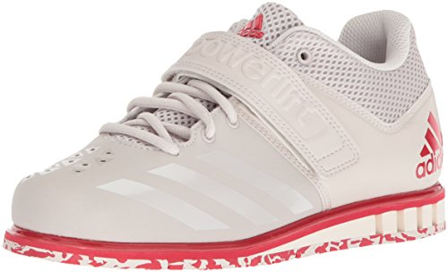 adidas Men's Powerlift.3.1 Cross Trainer, Chalk Pearl/Chalk Pearl/Scarlet, 13 UK