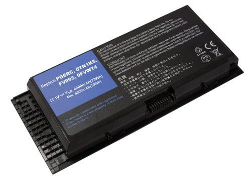Power Smart® Li-Ion 11,10 V 6600 mAh batterie pour Dell Precision M4600, Precision M4700, Precision M6600, Precision M6700