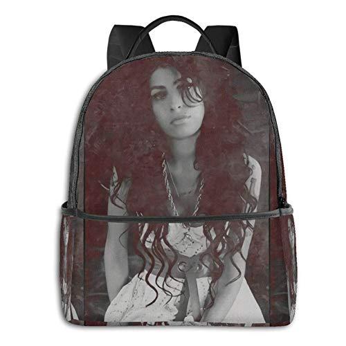 IUBBKI Mochila lateral negra Mochilas informales Zwinz Amy Winehouse Backpack