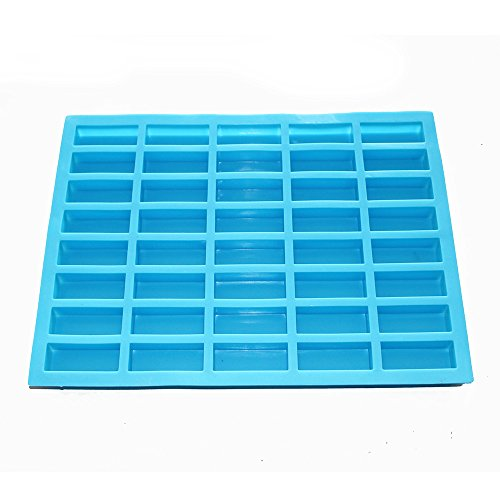 X-Haibei Small Rectangle Sample Guest Soap Jello Candy Chocolate Ice Cube Making Mold Silicone Supplies