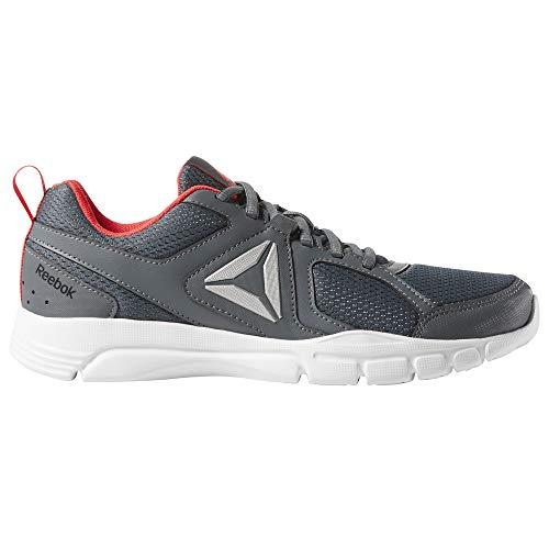 Reebok Damen 3D Fusion Tr Multisport Indoor Schuhe, Mehrfarbig (True Grey/Neon Red/Black/White/Silver 000), 37 EU