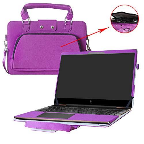 Spectre x360 15 15-ch000 Series Hülle,2 in 1 Spezielles Design eine PU Leder Schutzhülle + Portable Laptoptasche für 15.6