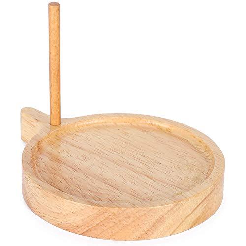 Sonline Holz Perlen Ablage, Runde Perlen Aufbewahrungs Platte Massiv Holz Web Stuhl Kit für die DIY Weberei Schmuck Herstellung