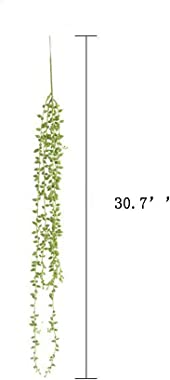UUPP 4 Pcs Artificial Hanging Succulents Plants Fake String of Pearls Artificial Greenery Plants for Home Wedding Garden Deco