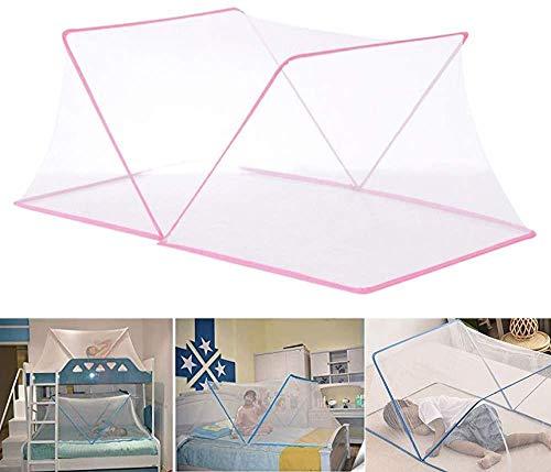 SUSU Baby-Anti-Moskito-Folding Nets Babyportable Breathmoskitonetz Freier Installations Schlaf-Reisen Mesh-Zelt Für Baby Kleinkinder Kinder Pink-190CM X 100CM