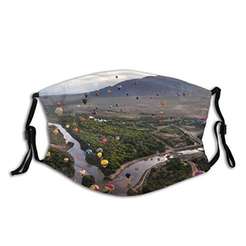 NIET Gezichtsmasker Verstelbare Oorlussen Ademend Herbruikbare Outdoor Mond Cover Stofmasker voor Volwassenen Kinderen Ballon Fiesta In De Rio Grande In Albuquerque 4k Desktop
