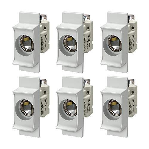 SIEMENS - x6 Stück NEOZED Sicherungssockel D01 1 polig 16A AC 400 V
