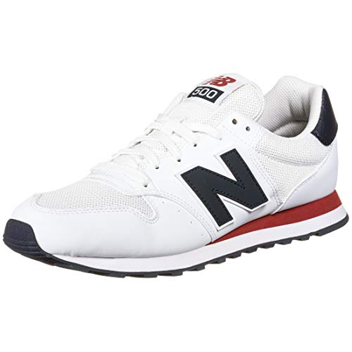 New Balance 500 Core, Zapatillas Hombre, Blanco (Munsell White/Eclipse/Tempo Red Swb), 40.5 EU