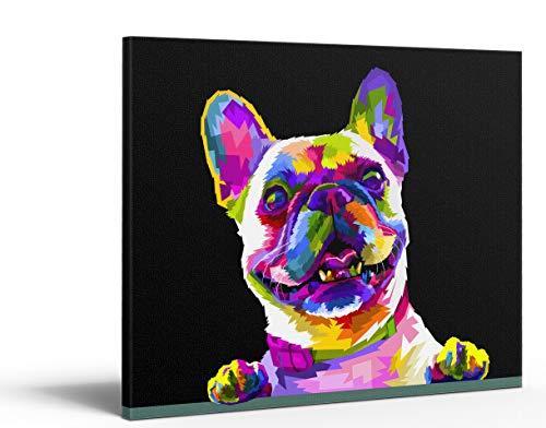 Tungsang Framed Paint by Number DIY Oil Acrylic Paint by Numbers for Kids Sized 12'X16' Painting on Canvas with Frame for Home Decoration(Cute Dog)