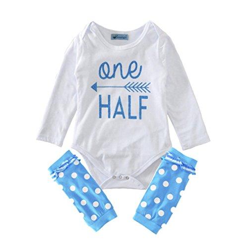 SAMGU Bébé Baby Fille Romper +Jambières Tenue Vêtements Bodysuit