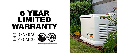 Generac 70432 Home Standby Generator Guardian Series 22kW/19.5kW Air Cooled with Wi-Fi and Transfer...