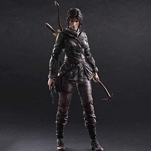Figurine Tomb Raider Lara Croft Anime Action Figure 26cm PVC Modèle de Collection Personnable Statue de caractère Jouets Pop Figurine