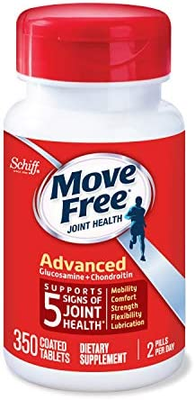 Glucosamine Chondroitin Advanced Joint Health Supplement Tablets Move Free 350 Count in A Bottle product image