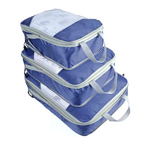 XSCYLWJ 3Pcs Travel Storage Bags grid Clothes Waterproof Packing Cube Organizer with Shoes Bag Accessories Travel Multi-functional Travel Luggage